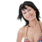 Krásná sexy fit žena v plavkách — Stock fotografie