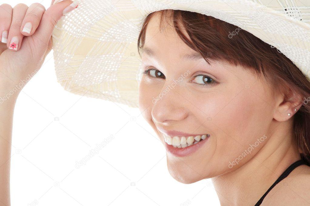 Summer teen girl in bikini - Stock Image