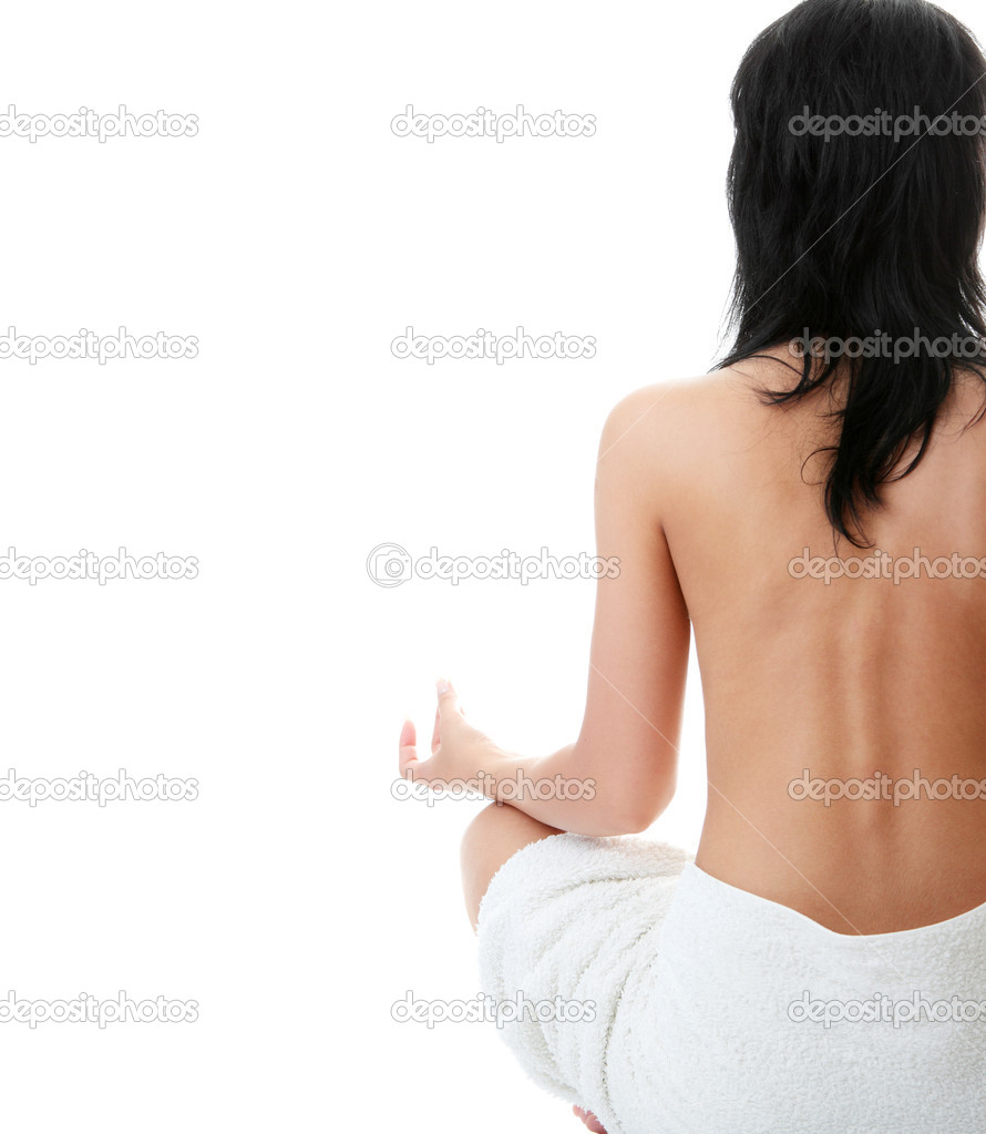 depositphotos 4834035 Back of a nude beautiful woman meditating Xxx Women | PornZ DDL   Free Sex Downloads