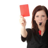 Young female referee — Stock Photo