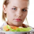 Female and her salad — Stock Photo #4866001