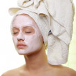 Masked Beauty - facial treatment — Stock Photo