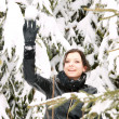 Stock Photo: Beautiful woman outdoor in the snow