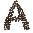 Coffe letter A — Stock Photo
