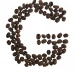 Coffe letter G - Stock Photo