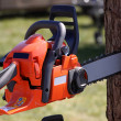 Stock Photo: Chainsaw for heavy wood cutting