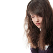 Young teen woman with depression — Stock Photo