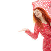 Rainy woman — Stock Photo