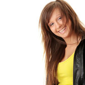 Happy and friendly young lady — Stock Photo