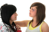 Sisters fight — Stock Photo