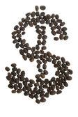 Coffey dolar $ sign — Stock Photo
