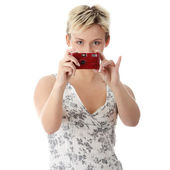 Woman talking a picture — Stock Photo
