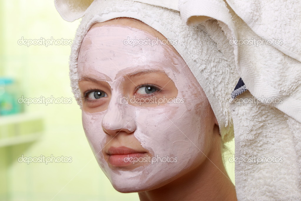 Portrait of a styled model with facial cream mask.  — Stock Photo #4866650