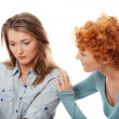 Troubled young girl comforted by her friend — Stock Photo #4965479
