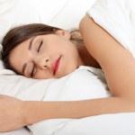 Beautiful young woman sleeping — Stock Photo
