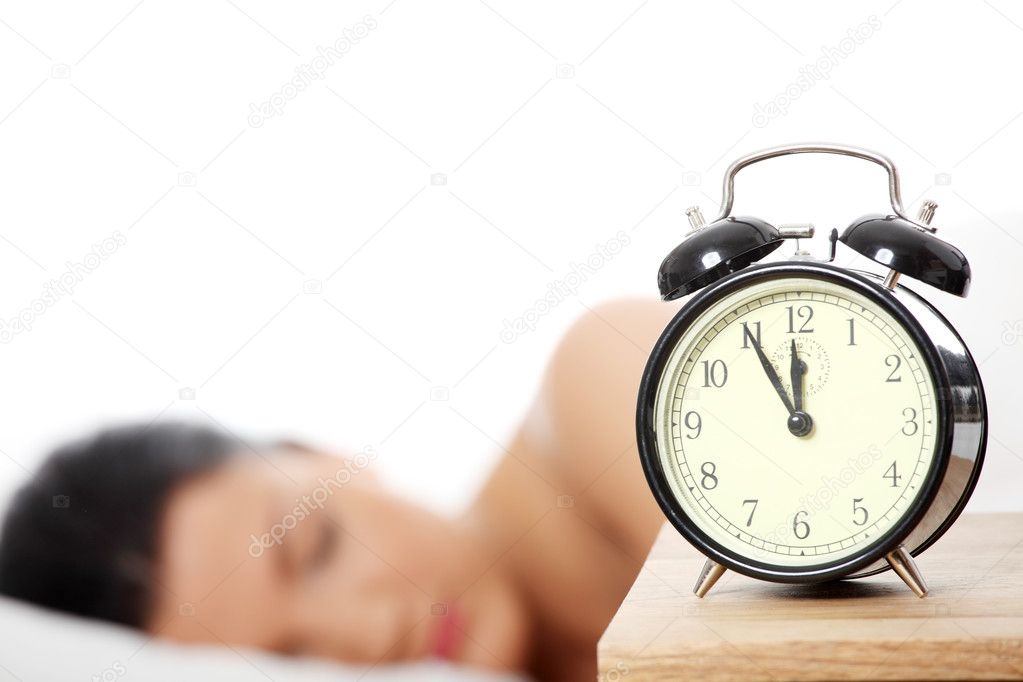 Beautiful caucasian woman sleeping in the morning.  — Stock Photo #4965699