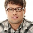 Stock Photo: Close up portrait of handsome man in glasses
