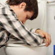 Man vomiting — Foto Stock