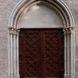 Entrance to old capel — Stock Photo
