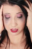 Tearful woman — Stock Photo