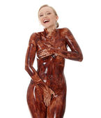 Chocolate body — Stock Photo