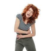 女人的胃的问题 — 图库照片