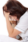 Overburdened doctor in the stress — Stock Photo