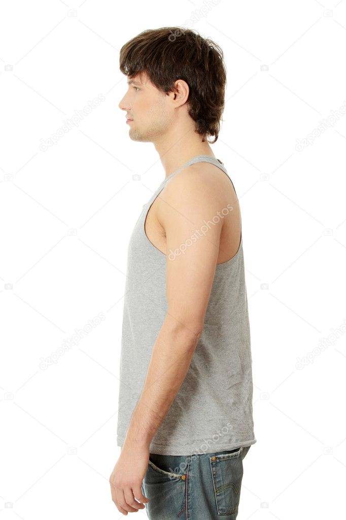 Young handsome man in casual clothes, isolated on white — Stock Photo #4997379