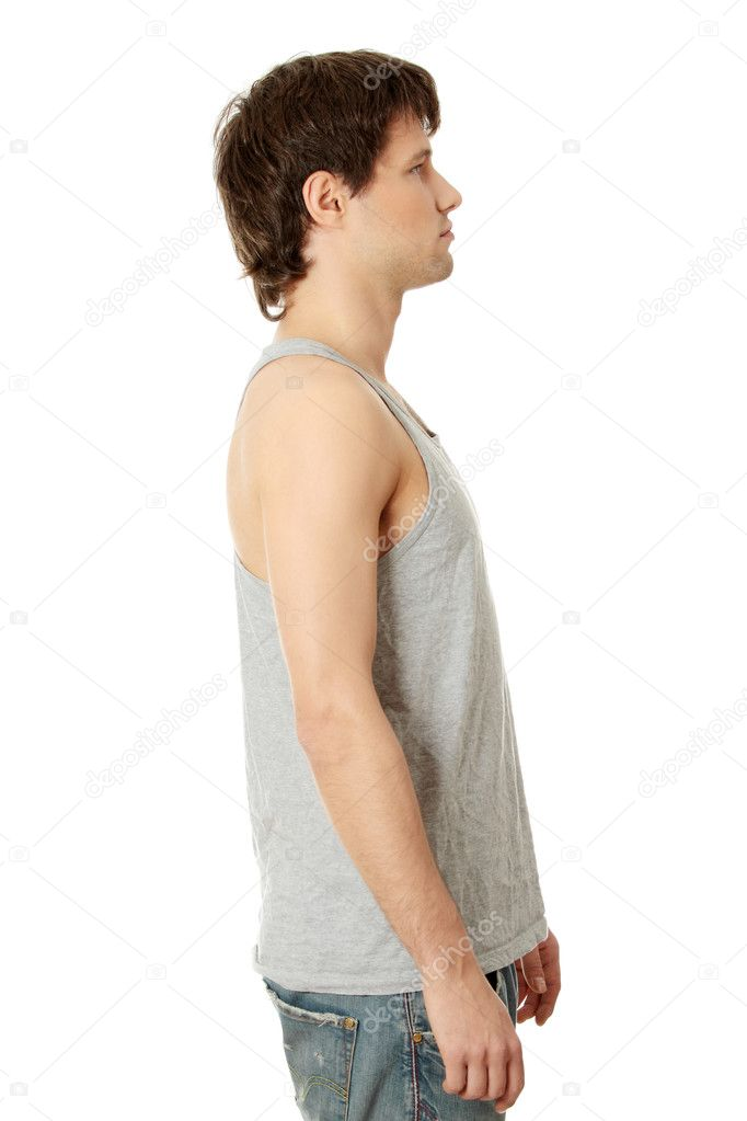 Young handsome man in casual clothes, isolated on white — Stock Photo #4997381