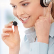 Call center woman with headset — Stock Photo #5005918