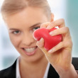 Holding heart — Stock Photo