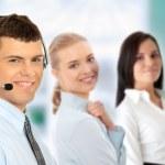 Customer service operator — Stock Photo