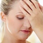 Woman with headache — Stock Photo #5007973