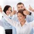 Business team with thumbs up — Stock Photo #5008102