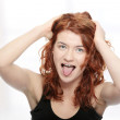 Young woman screaming — Stock Photo #5008417