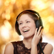 Stock Photo: Listening to the Music