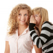 Two happy young girlfriends — Stock Photo #5009306