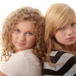 Two beautiful blond teen girlfriends — Stock Photo #5009308