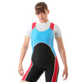 Young woman in rowing suit — Stock Photo