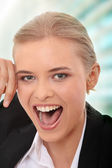 Happy business woman — Stock Photo