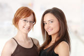 Two young womans — Stock Photo
