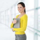 Student woman — Stock Photo
