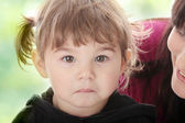 Portrait of a 2 year old girl — Stock Photo