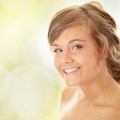 Close-up, portrait of a beautiful woman — Stock Photo