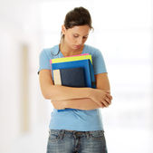 Student woman with depression — Stock Photo