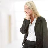 Photo of depressed female — Stock Photo