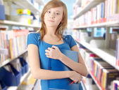 Teen student girl — Stock Photo