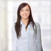 Jovem empresária caucasiana — Fotografia Stock