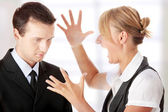 Work Colleagues arguing — Stock Photo