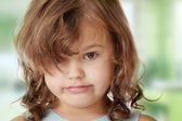 Portrait of a 5 year old girl — Stok fotoğraf
